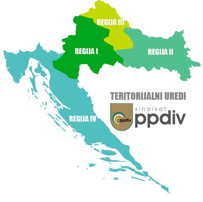 Teritorijalni uredi PPDIV-a